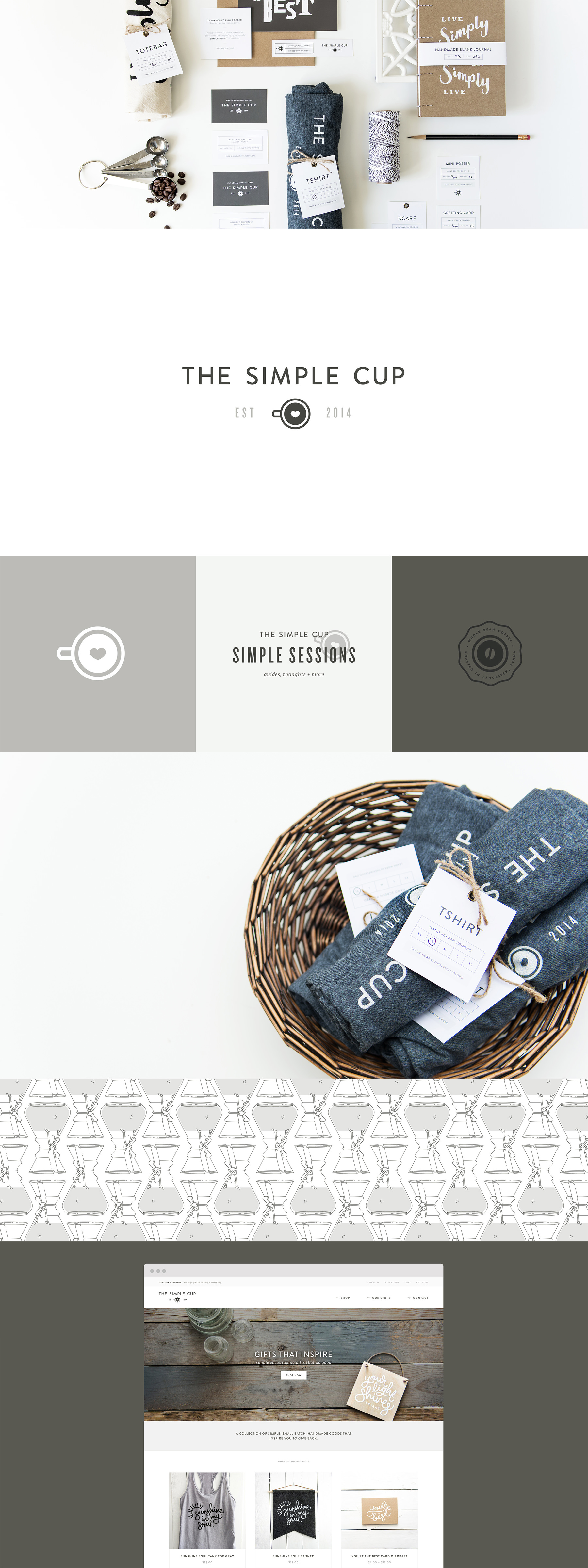 The Simple Cup branding by The Curio Collective