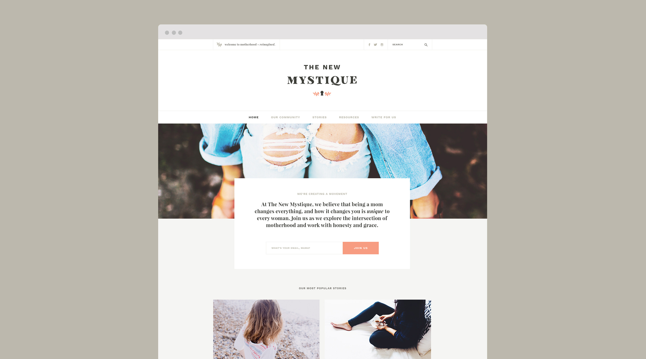 The New Mystique branding by The Curio Collective