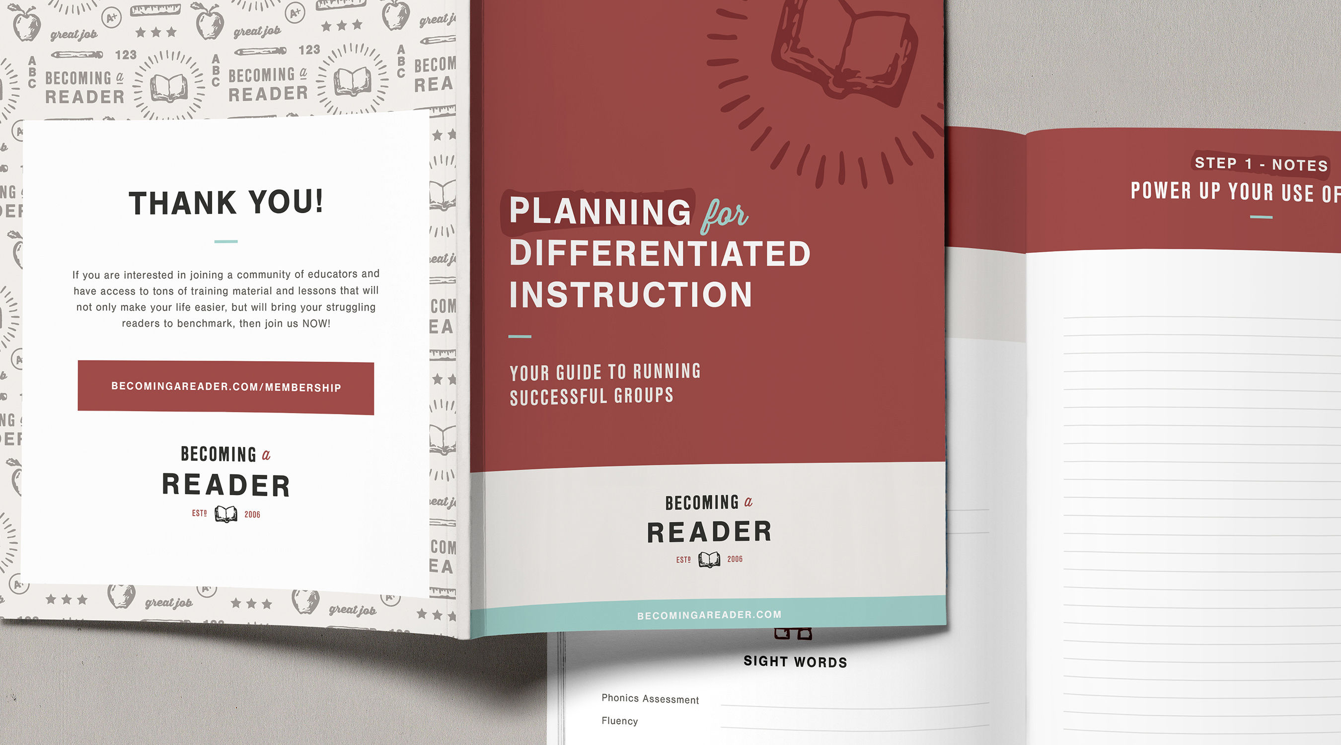 Becoming a Reader branding by The Curio Collective
