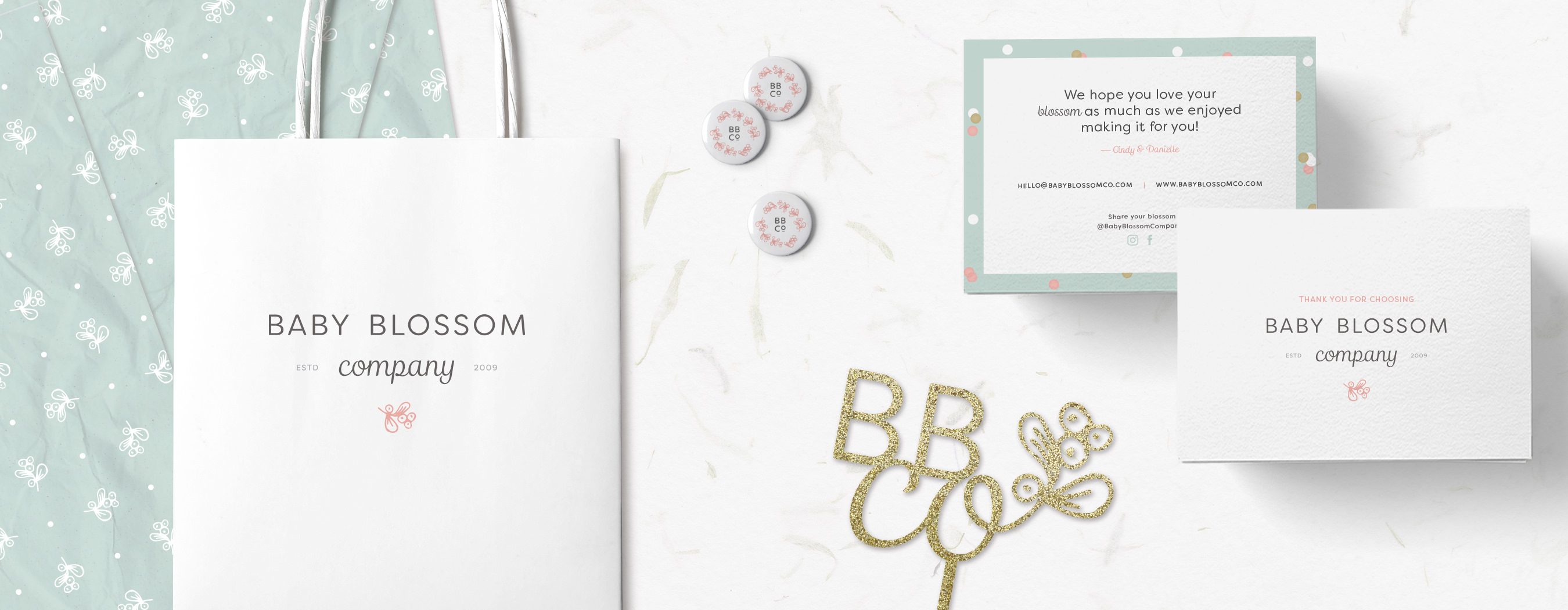 Baby Blossom Company branding by The Curio Collective