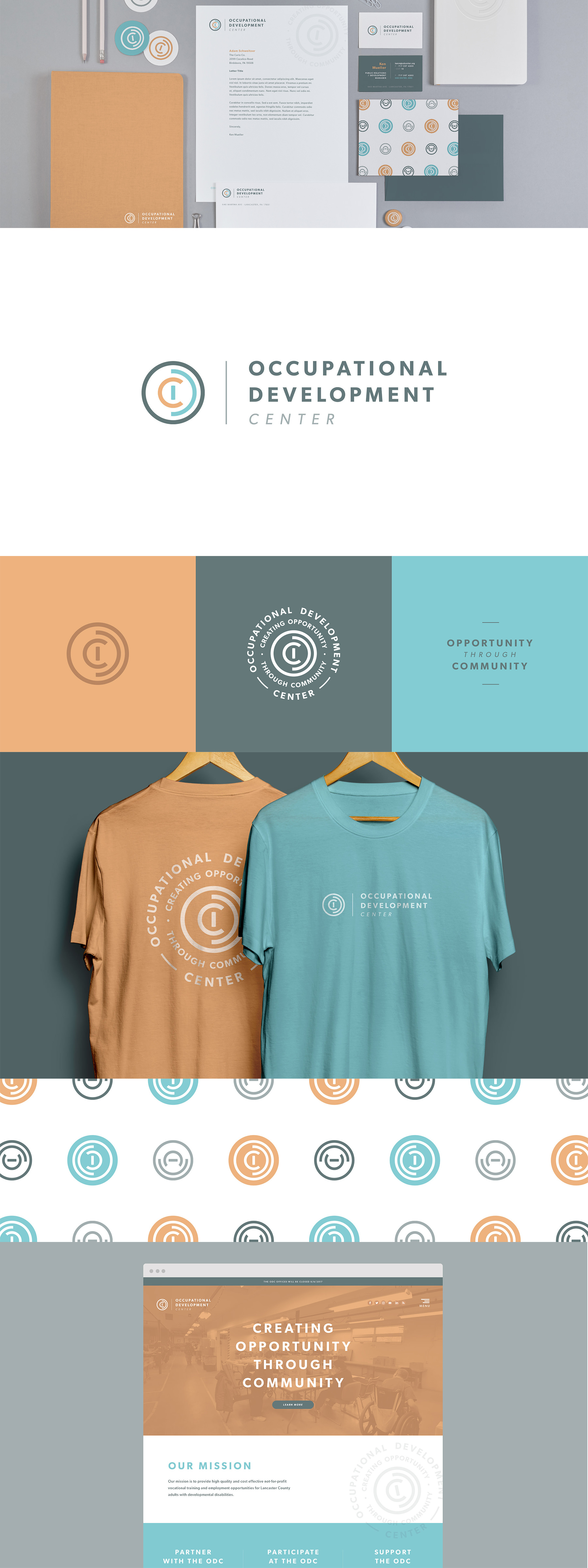 Occupational Development Center branding by The Curio Collective