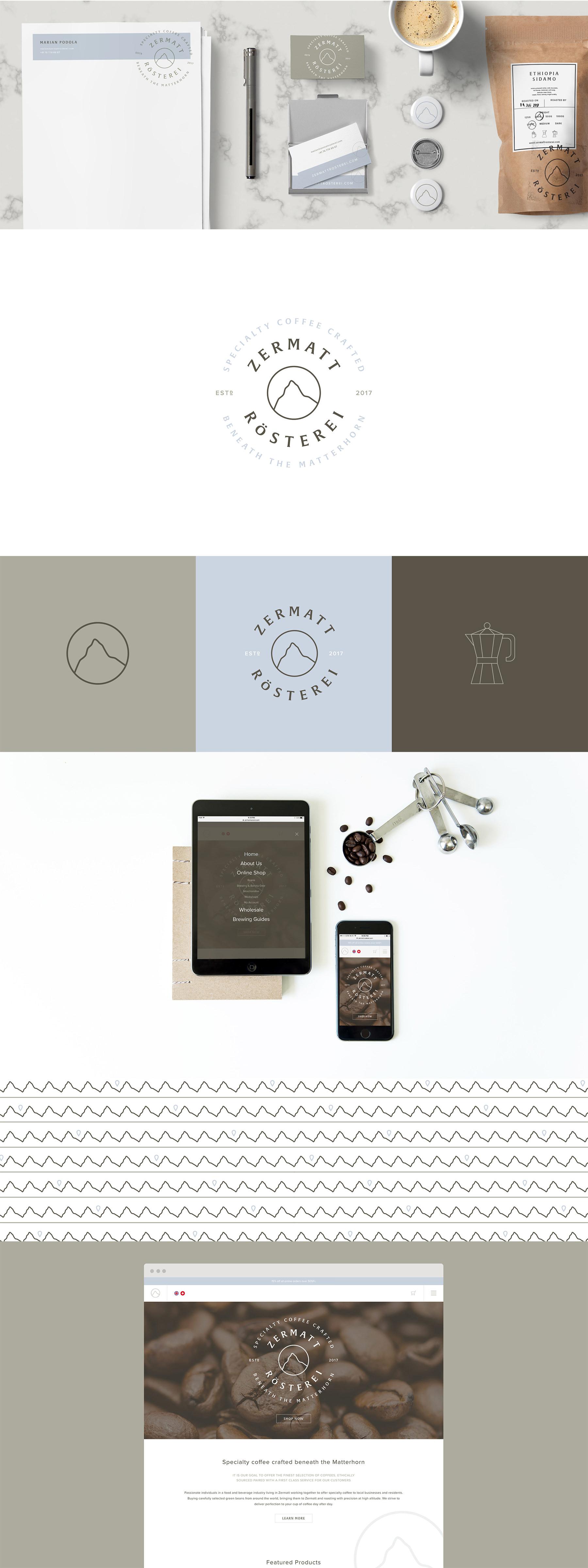 Zermatt Rösterei branding by The Curio Collective